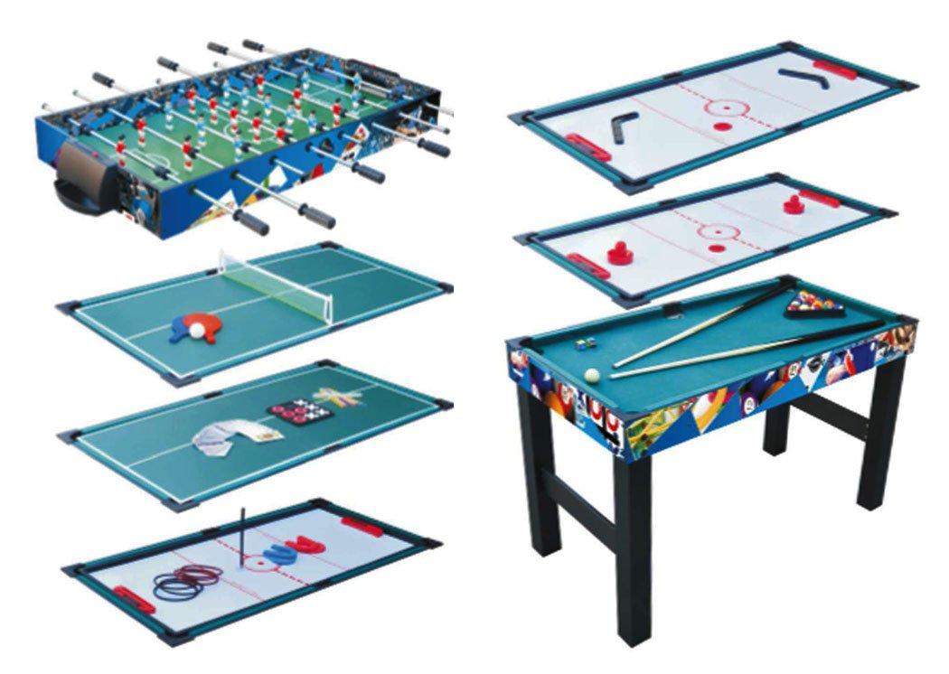 KMH®, Multifunktionsspieltisch 10 in 1 / Multigame Tisch / Multifunktionstisch / Billard / Kicker / Gleithockey / Tischtennis usw. (#800066)