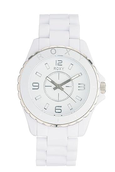 Roxy W205BR/AWHT - Reloj de mujer de cuarzo, correa de plástico color blanco: Amazon.es: Relojes