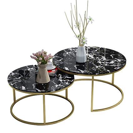 Stupendous Amazon Com Modern 2 Nest Of Table Sets Black Marble Living Inzonedesignstudio Interior Chair Design Inzonedesignstudiocom