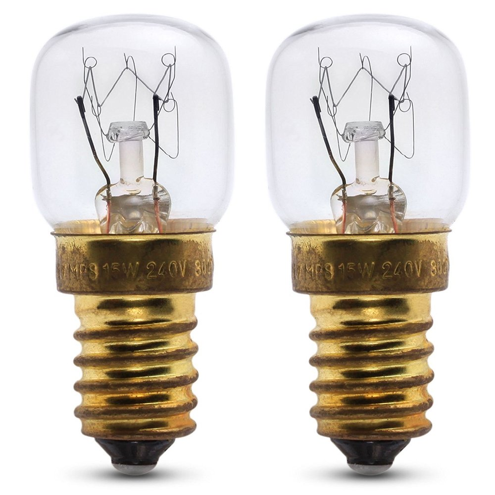 2 x 240v 25w oven lamp for use within a AEG oven. 240v. 300° Heat resistant. SES (E14) Small Edison Screw cooker light bulb