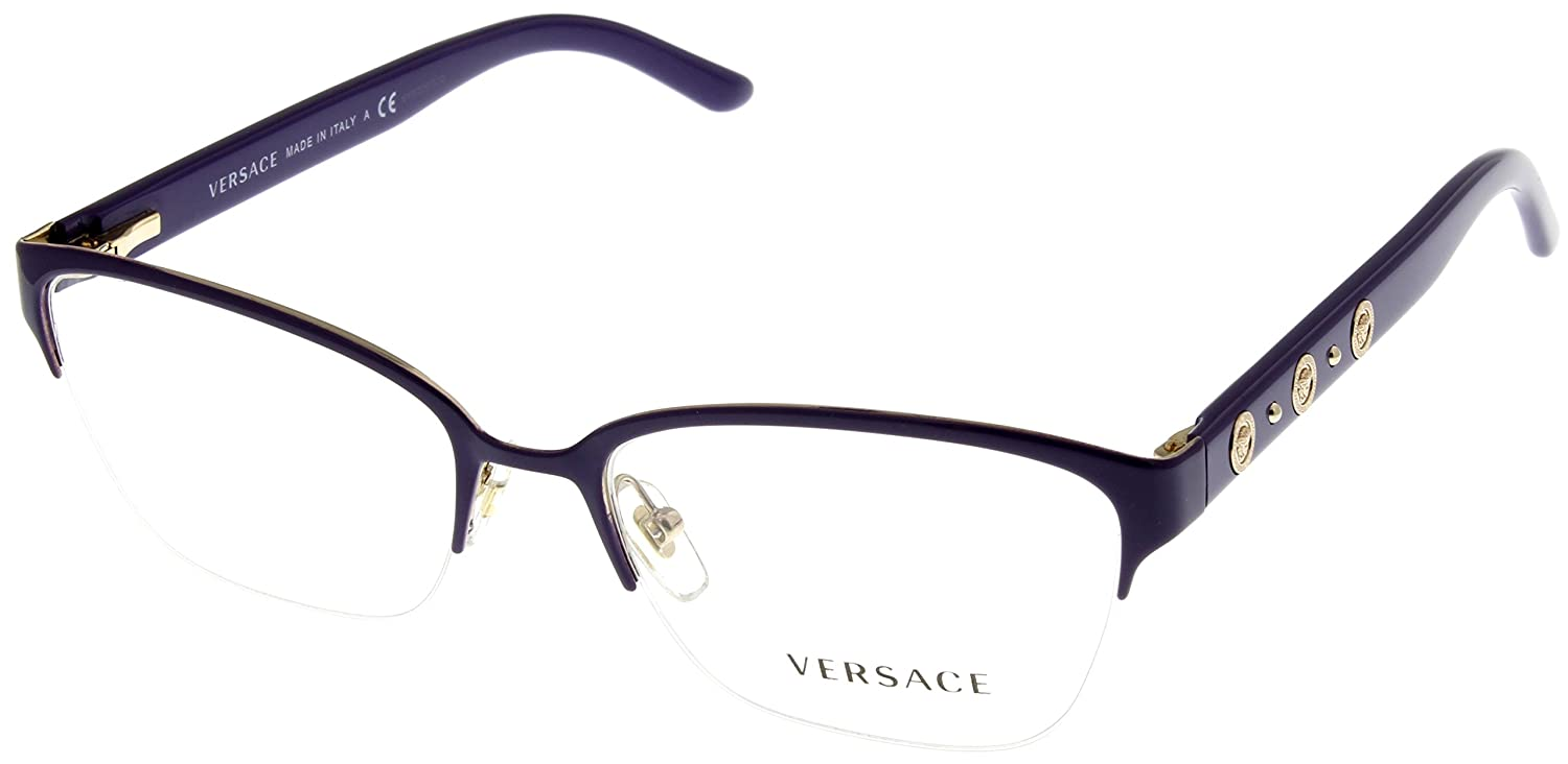 773d703b7e50 Amazon.com: Versace Women Eyeglasses Designer Violet Semi Rimless VE1224  1353: Clothing