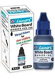 Luxor Whiteboard Marker Ink, 15 ml, Blue - Pack of 10