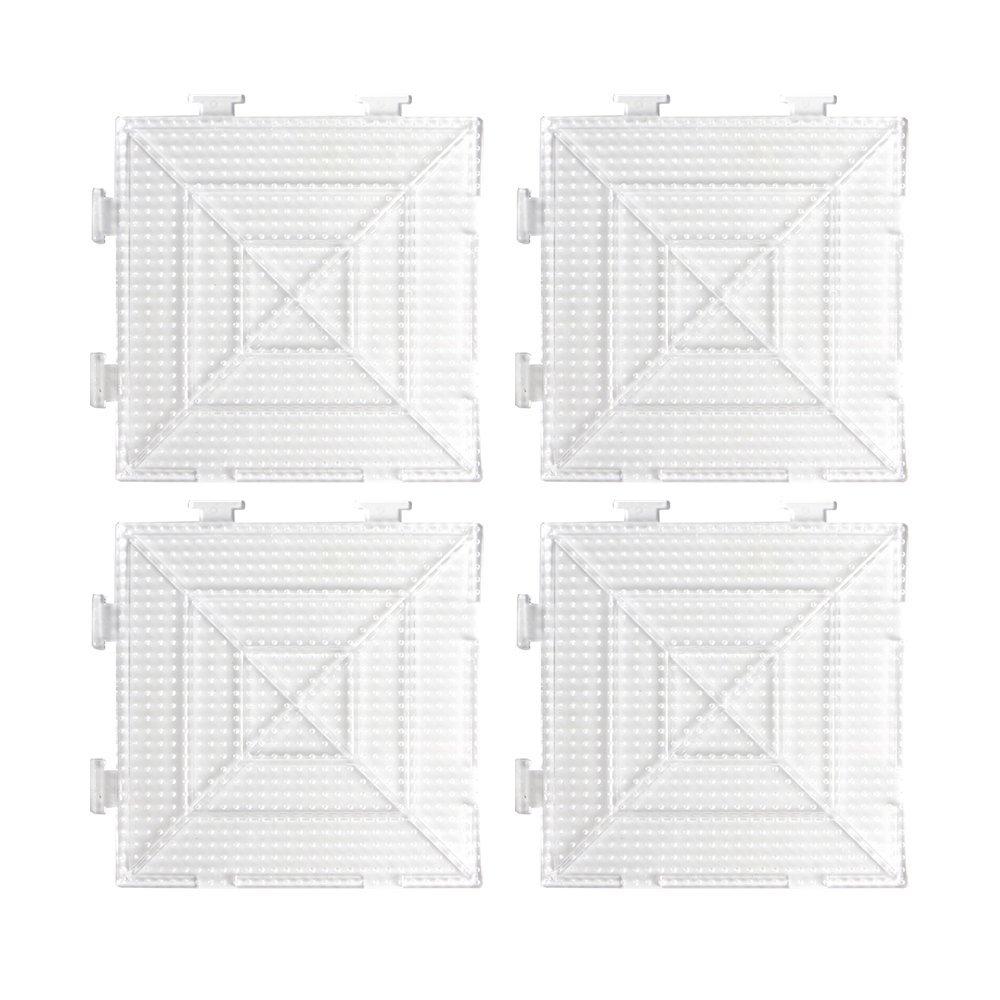 Novelinks Fused Bead Pegboard - 4 Pcs Large Clear Square Pegboards
