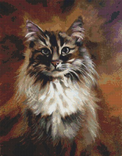 Cat Portrait Cross Stitch Pattern - Beautiful Feline XStitch Design