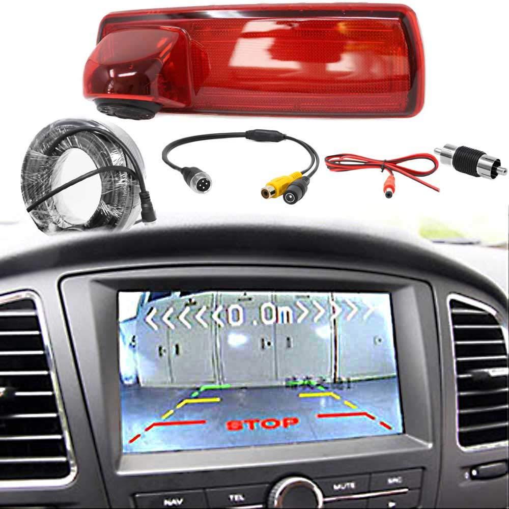 Transporter /& Wohnmobile 3 HSRpro Kabellose Funk R/ückfahrkamera Komplettset Mit Renault Trafic /& Opel Vivaro Kompatibel Bremslicht Nachr/üsten inkl 4.3 Flip Monitor
