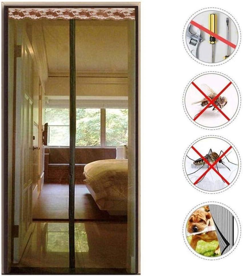 Wghz Feng Magnetic Door Door, Premium Magnet Curtain Cerrado automáticamente, Plegable Fácil de Abrir y Cerrar para Sala de Estar, Puerta de Patio - 90X210cm: Amazon.es: Hogar