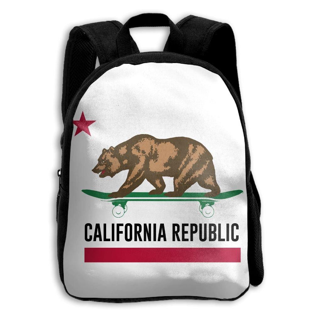 Amazon.com | SARA NELL Children School Backpack California Republic State Flag Travel Bag | Kids Backpacks