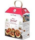PIZZA GOURMET: con alici e tartufo e con caponata e mandorle - Idea regalo My Cooking Box