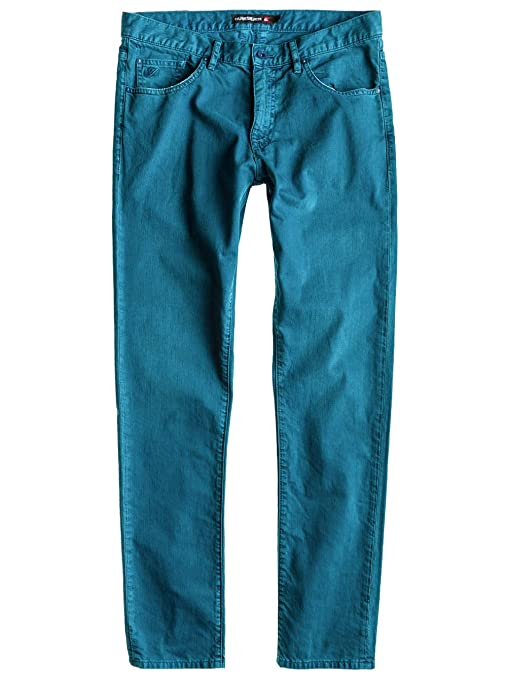 Quiksilver Straight Fit Jeans añil 31: Amazon.es: Ropa y ...