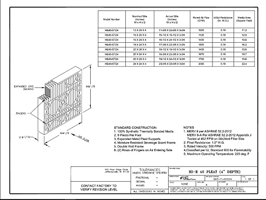 Assigned by Sterling Seal /& Supply KP-18x20x1x2.AZ Furnace Air Filter 18 x 20 x 1 Purolator Key Pleat Extended Surface Pleated Air Filter Mechanical MERV 8