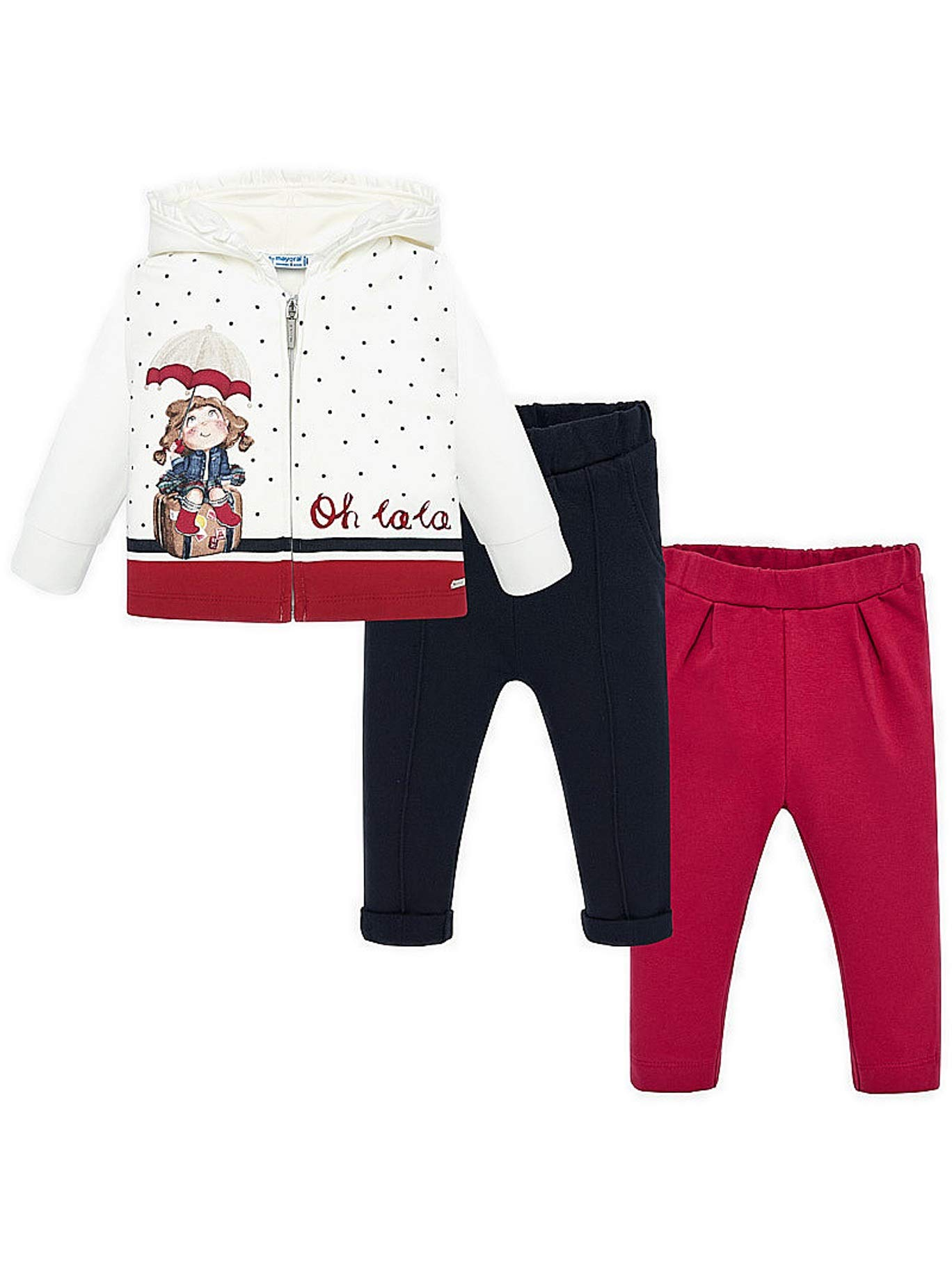 Mayoral 19-02840-044 - Girl Tracksuit for Baby-Girls 9 Months Red by Mayoral