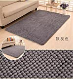 80x200cm Huge Size Soft High Quality Thick Shag Microfiber Chenille Anti Slip Floor Mat Doormat Bedroom Kitchen Area Rug Carpet Washable Absorbent Bath Mat 31.5x78.7inches (Gray)