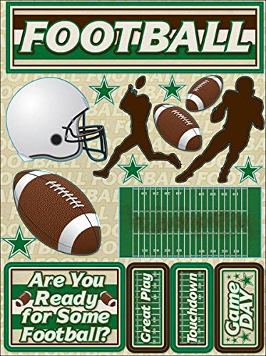 Reminisce Signature Series Dimensional Cardstock Stickers-Football by Reminisce B005F5IBW4
