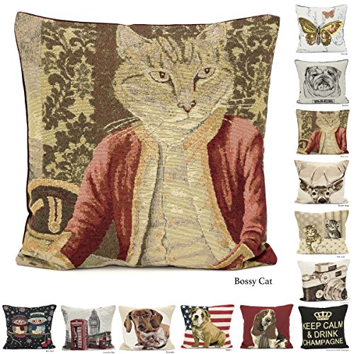 TTO Cushion Cover Tapestry Vintage Design Size: 18x18