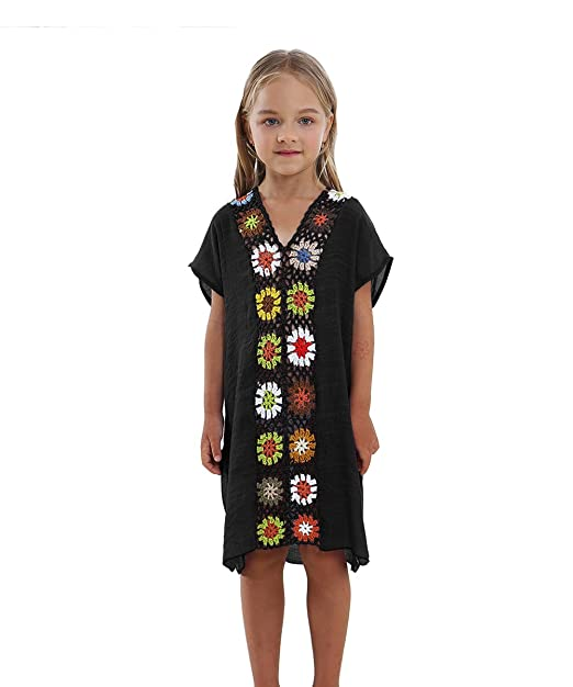 Amazon.com: M2 °C) niño ganchillo playa nadar vestido Cover ...