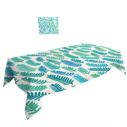 Amazon.com: Rectangle Tablecloth W70 x L120 INCH,Ocean Animal Decor ...