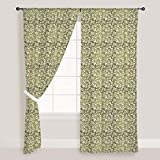 AZ Organic Net Door & Window Curtain Satin 4feet x 6feet; SET OF 3 PCS
