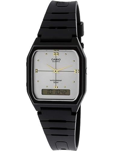 Casio # ae48he-7av Hombre analógico Digital Dual Tiempo Zona Reloj: Casio: Amazon.es: Relojes