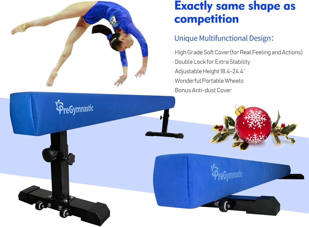 PreGymnastic Adjustable Balance Beam 8FT High  Low Club Level Gymnastics Compe