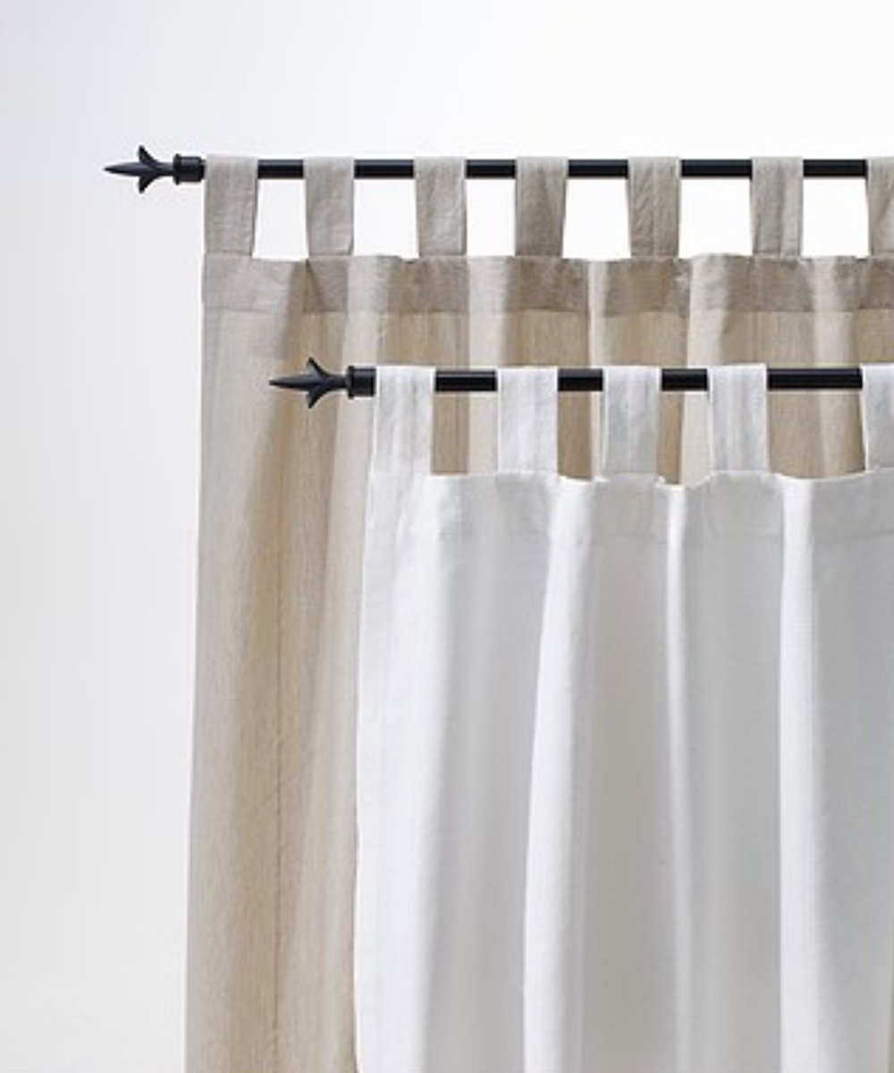 Amazon.com: Ikea LENDA Pair of curtains with tie-backs, light ...