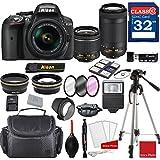 Nikon D5300 DX-format Digital SLR w/AF-P DX NIKKOR 18-55mm f/3.5-5.6G VR Lens & AF-P DX 70-300mm f/4.5-6.3G ED Lens + Professional Accessory Bundle