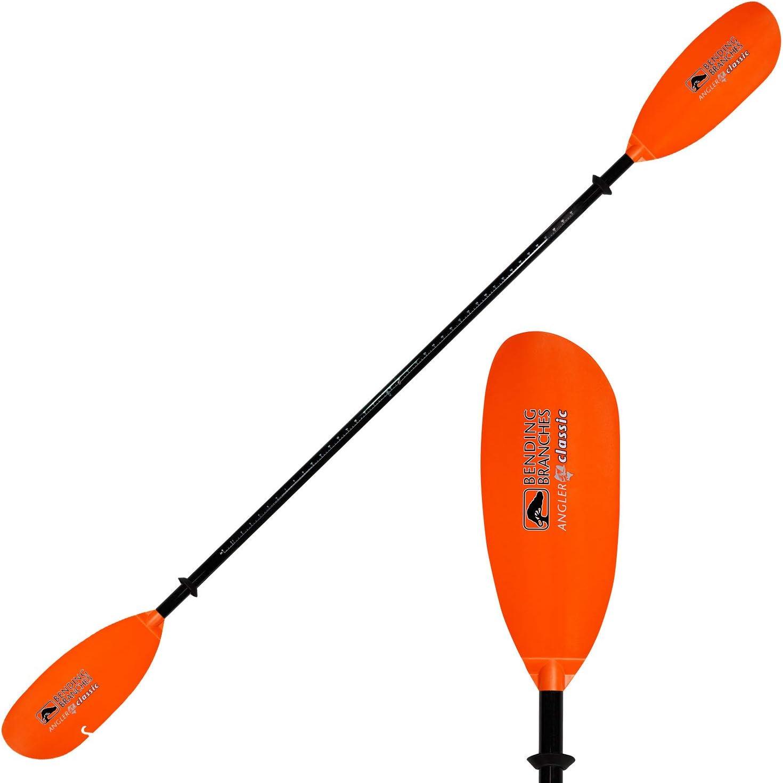 Amazon.com : Bending Branches Angler Classic 2-Piece Snap-Button Fishing Kayak  Paddle; (Black Shaft/Orange Blade - 240 centimeters) : Recreational Kayak  Paddles : Sports & Outdoors
