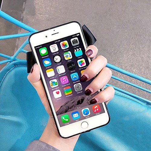 Phone Taschen & Schalen Für iPhone 6 Plus und 6s Plus Cute Bell und Bowknot Ribbon schützende Rückseite Case ( Color : Red )