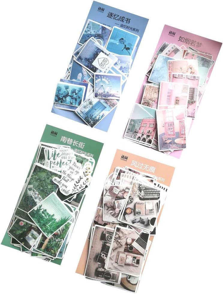 ANKOMINA 100 PCS Fashion Lovely Girls Stickers Waterproof Handbook DIY Craft Photo Album Scrapbook Journal Planner Motorcycle Car Laptop Luggage Water Bottle Paper Stickers