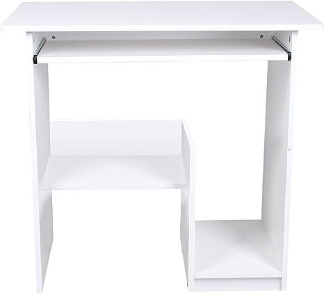 Lydan – Pella blanco mesa de ordenador escritorio compacto para ...