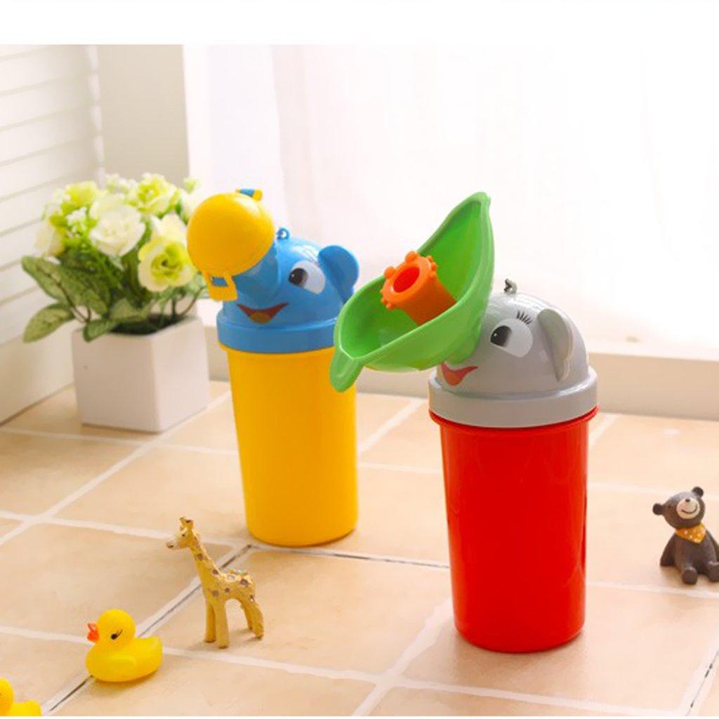 Gelb one Size CUTICATE Kinder Baby Tragbare Urinal T/öpfchen Notfall Camping Auto Reise Toilette Pee Bott