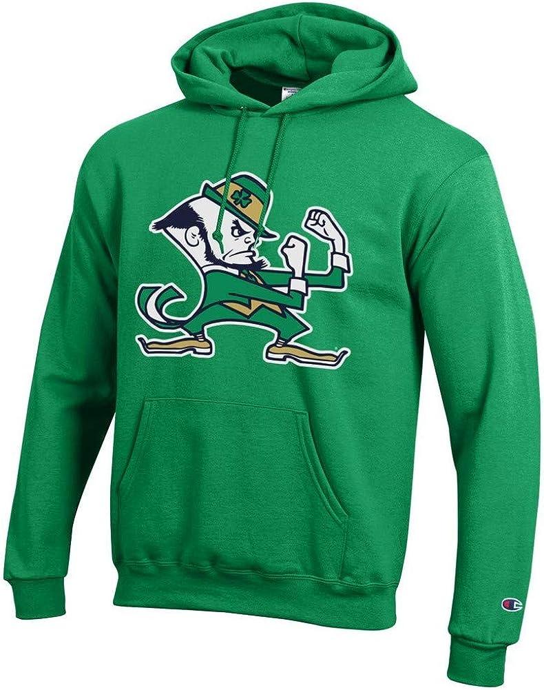 Elite Fan Shop Notre Dame Fighting Irish Hoodie Sweatshirt Leprechaun Green