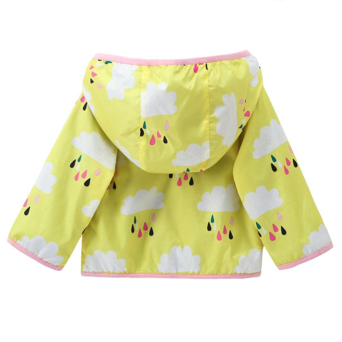 Voberry Toddler Kids Boys Girls Clothes Coat Sunscreen Coat Hooded Printing Spring Autumn Coat Tops Clothes Green