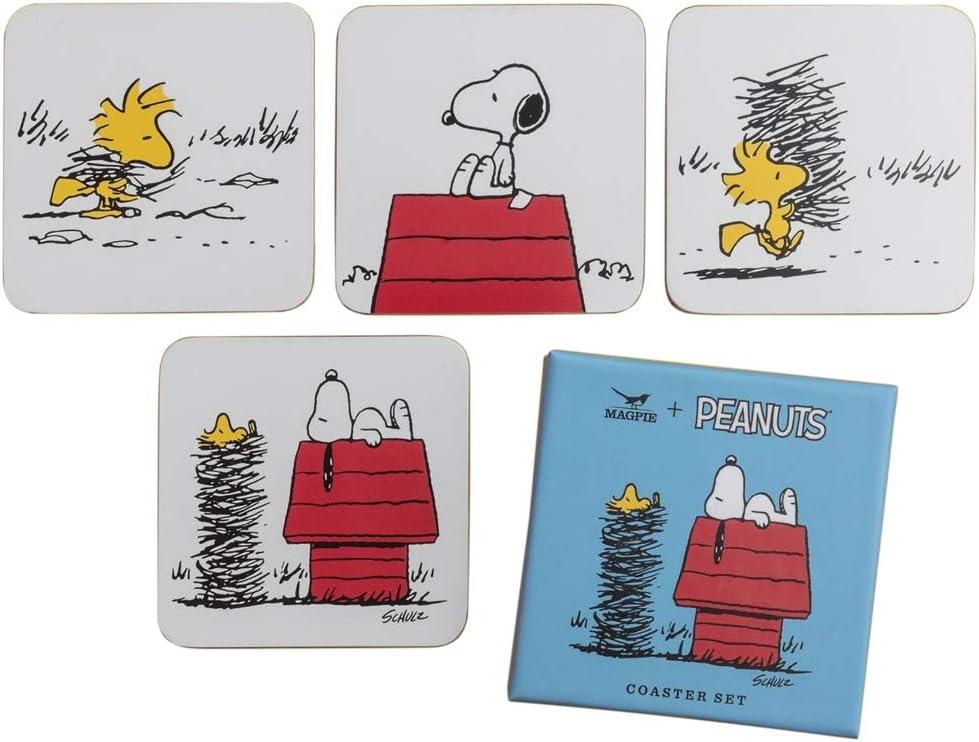 4x Peanuts Snoopy Tasse Black /& White United Labels 220 ml Geschenk Box