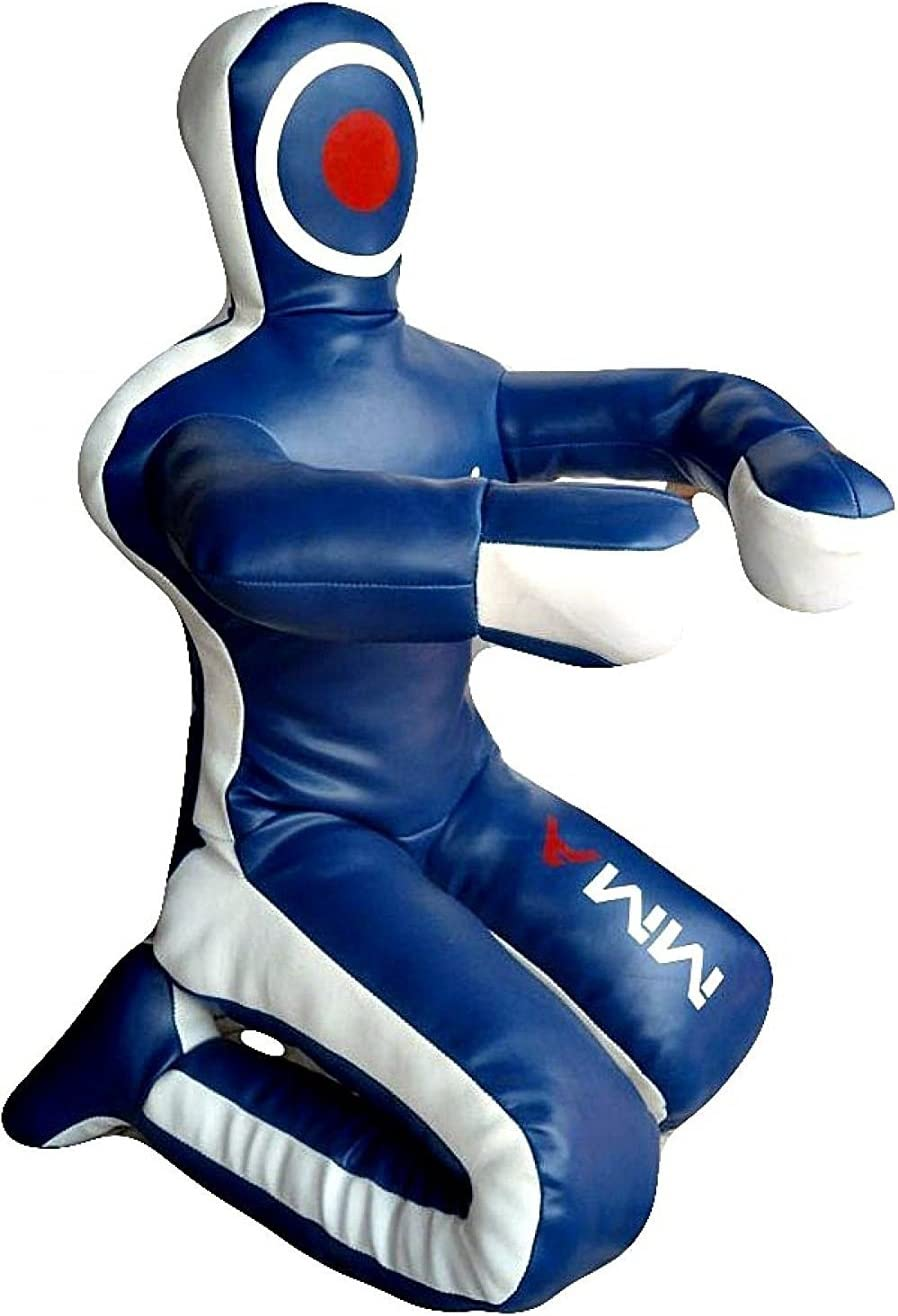 Unfilled LEATHERAY MMA Jiu Jitsu Judo Punching Bag Grappling Dummy Blue