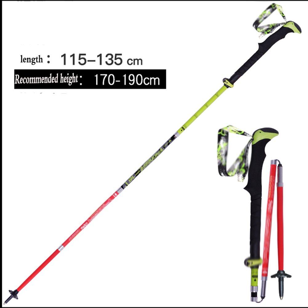 新作 トレッキングポール カーボンファイバーフォールディングトレッキングポール5スチールカーボン松の杖は -、機器を登る(赤/マットブラック/ブラック/ Long 115-135センチメートル) ZHANGQIANG B07DZW83ZL B07DZW83ZL Red - Long Style Red - Long Style, kimono5298:e4f79d26 --- a0267596.xsph.ru