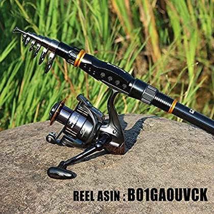 Sougayilang Fishing Rod Reel Combos Carbon Telescopic Fishing Rod Pole with Spinning Reel Line Lures Accessories Combo Sea Saltwater Freshwater Fishing Rod Kit