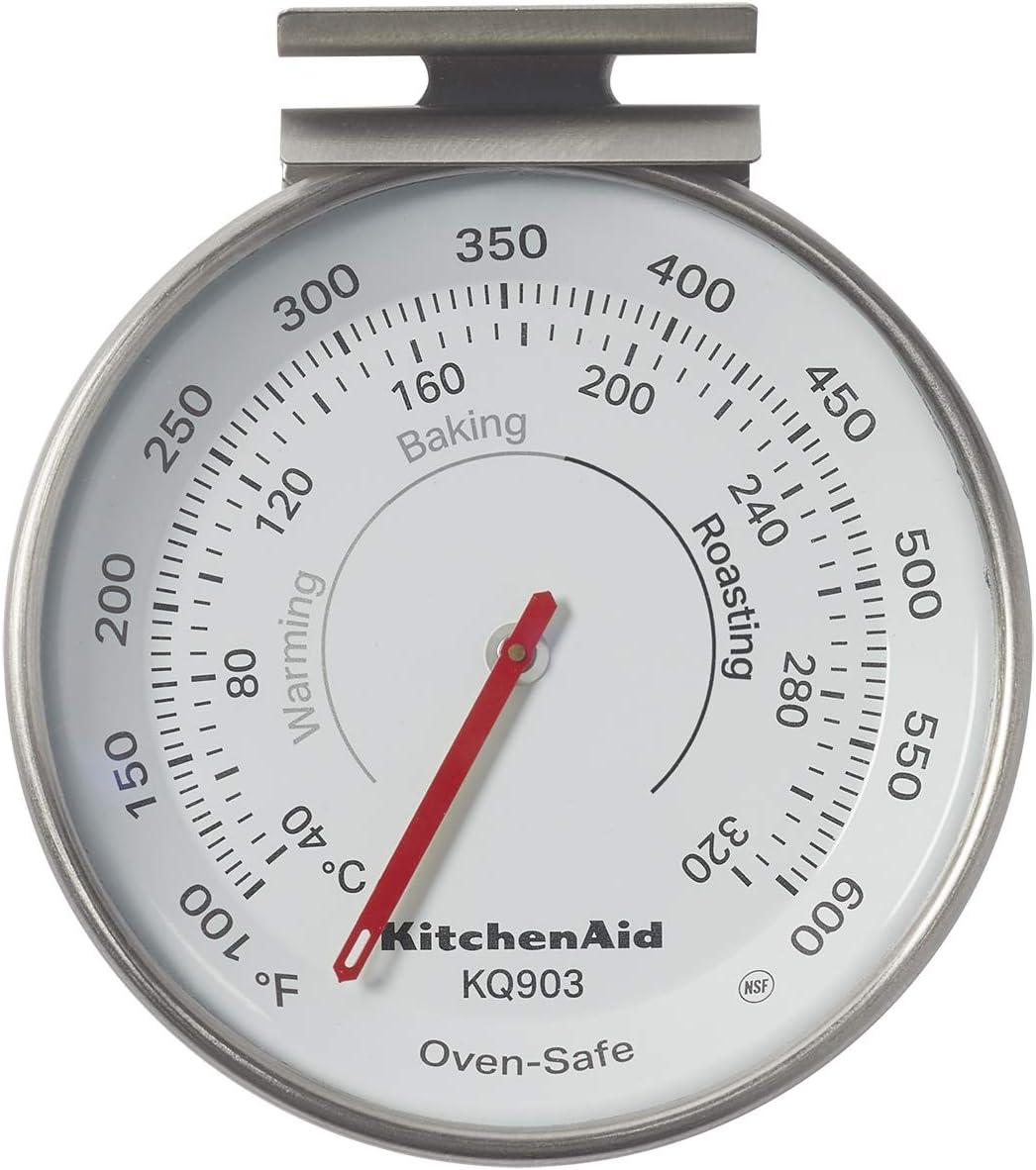 KitchenAid KQ903 3-in Dial Oven Thermometer, TEMPERATURE RANGE: 100°F to 600°F, Black