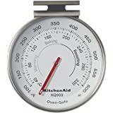 KitchenAid Termómetro de horno con esfera de 3 pulgadas, rango de temperatura: 100 F a 600 F, color negro