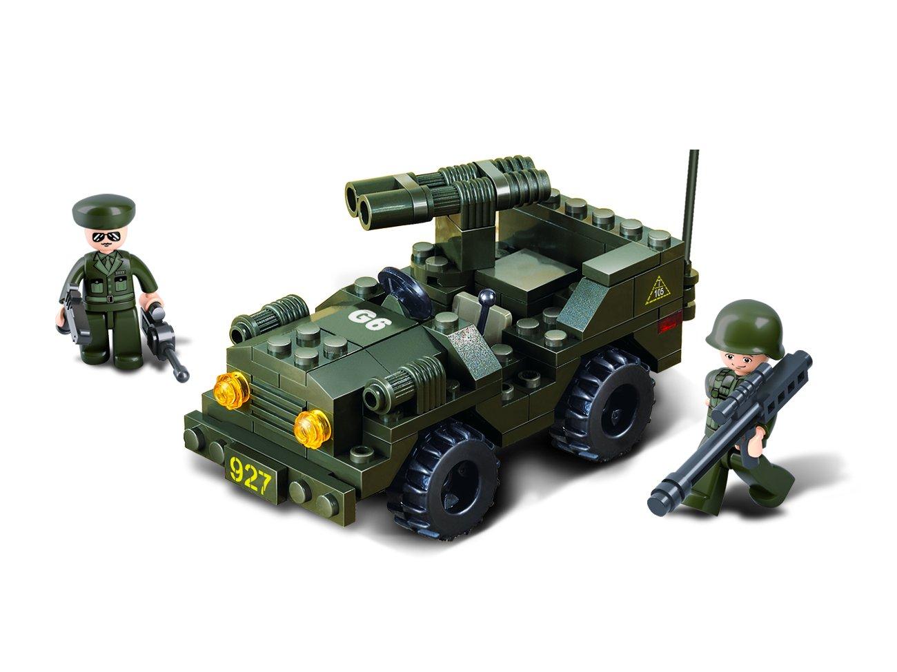 102 Pieces Sluban Jeep Army Building Kit