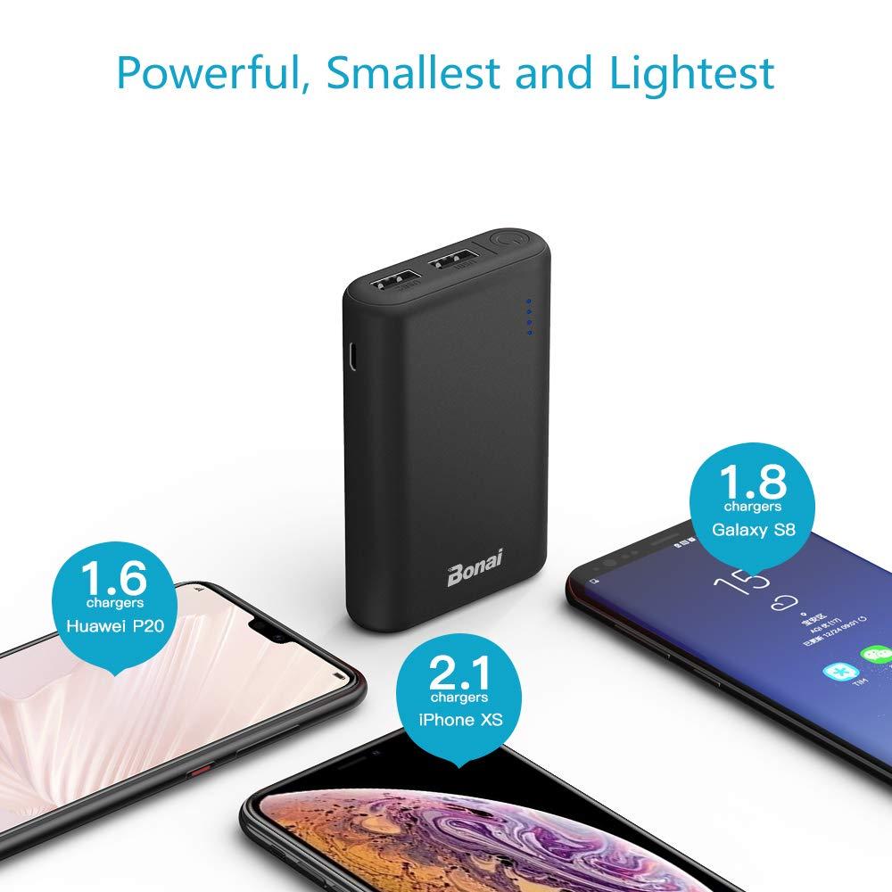 BONAI Batería Externa 7800mAh Power Bank Carga Rápida 5V/2.1A Cargador Portátil Móvil Compatible para iPhone iPad Samsung Dispositivos Android Tablets (Micro Cable de Carga Incluido)