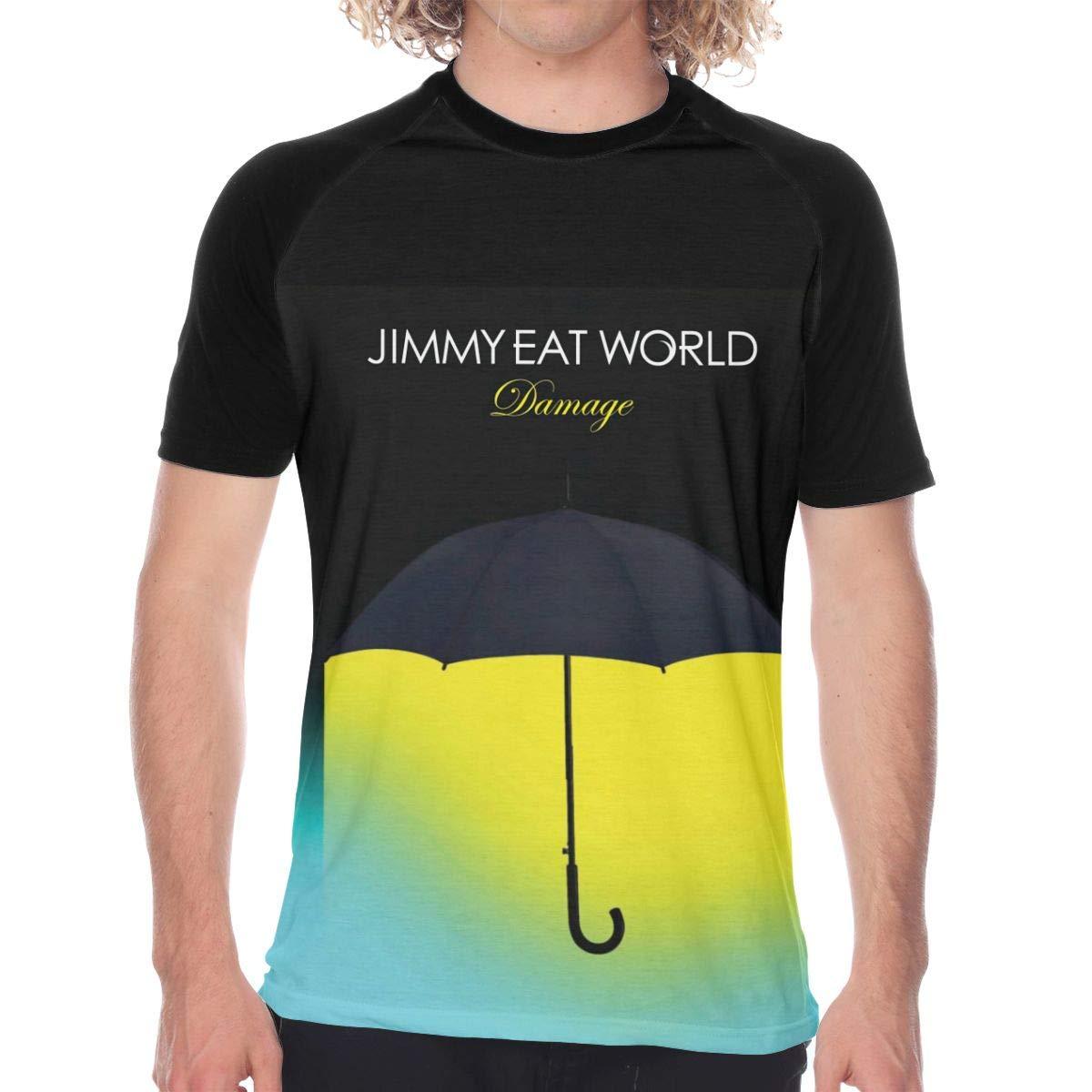 FwadGacx Jimmy Eat World Men Youth Stylish Short Sleeves Full Size Printed Baseball Tee Gift