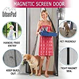 Magnetic Screen Door Full Frame Velcro, Heavy Duty Mesh, 26 Auto-Snap Magnets for Secure Seal, Pet and Kid Friendly, Keeps Bugs and Mosquitoes Out, Lets Fresh Air In. For doors 82&