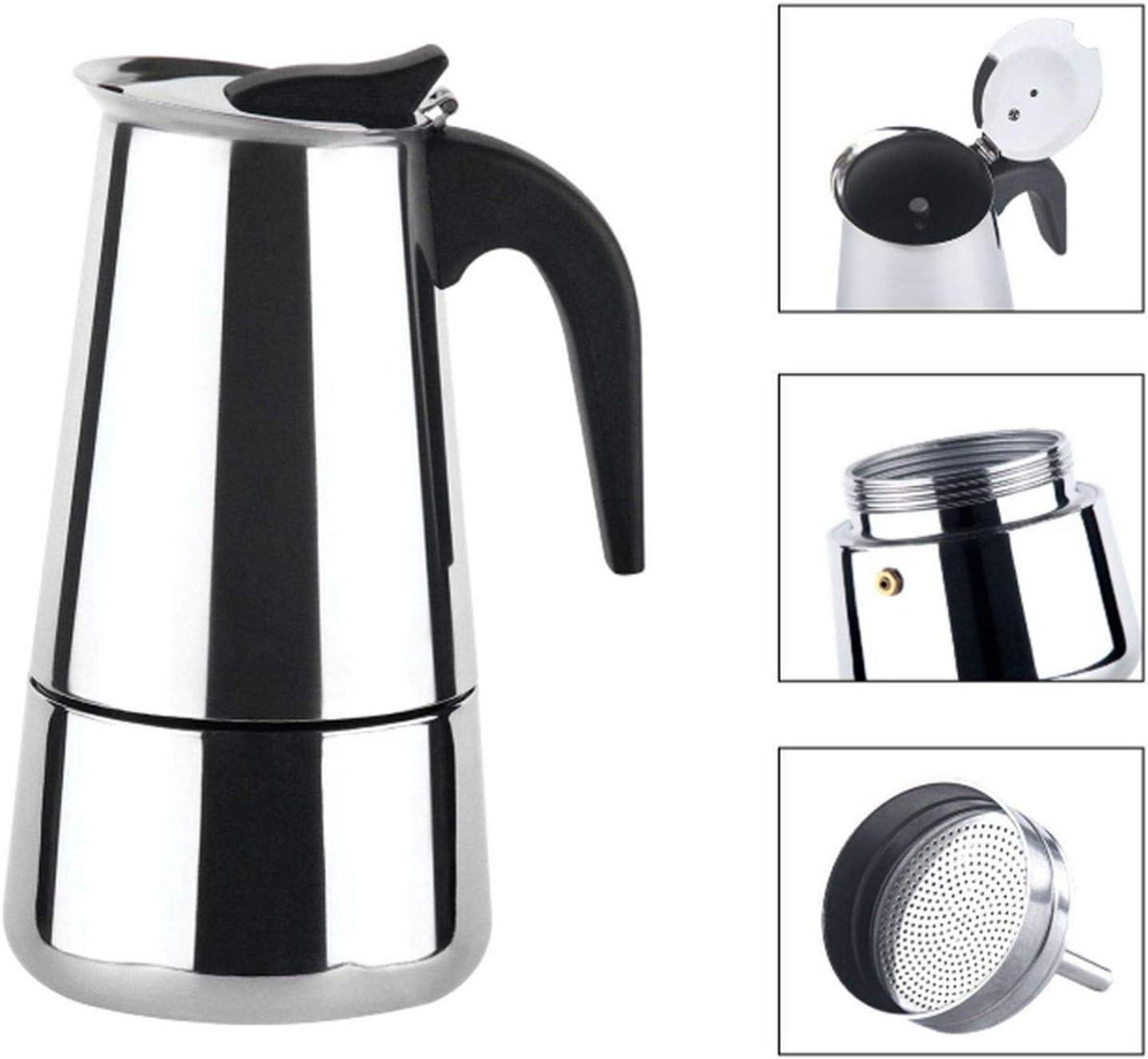 Amazon.com: Cafetera Moka Espresso Maker Mocha Maker Acero ...