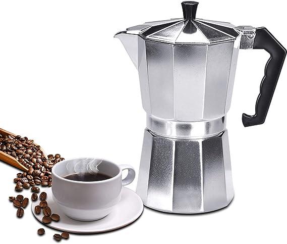 Lychee Moka Express, Cafetera Italiana Espresso,Cafetera Moka Clásica,Plata, Uso Doméstico,Viajes y en la Oficina (300ml -6 Tazas): Amazon.es: Hogar