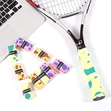 Rackets Badminton 5 Colours Anti Slip Racket Overgrips Tennis Badminton Squash Racket Grip Tapes With Super Absorbent Grips Suitable For Tennis Yumi V 10 Pack Tennis Racket Grip Squash