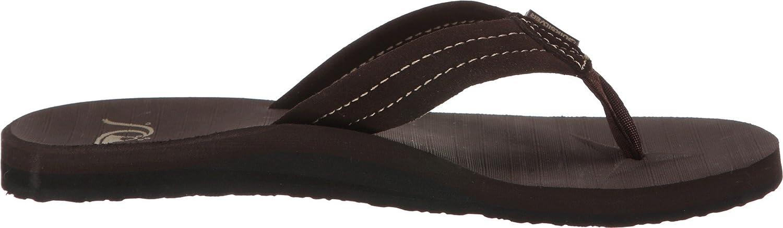 Quiksilver Mens Carver Suede 3-Point Flip Flop Sandal Athletic 11 M US Demitasse//Solid