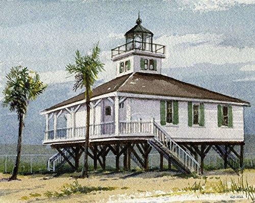 Port Boca Grande Lighthouse Gasparilla Island Florida Matted Art Prints (8x10) (Boca Grande Lighthouse)