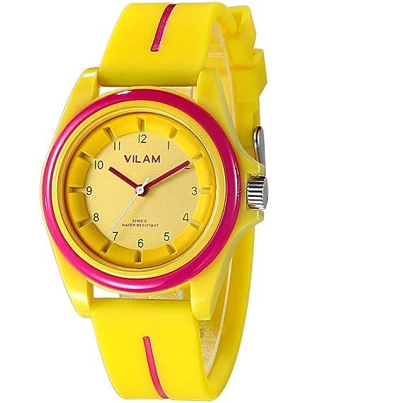 22a1b3815a1e Vilam reloj deportivo Fashion Simple Candy Color Casual cuarzo reloj  hombres mujeres deporte de silicona relojes relojes de pulsera niñas Boy marca  de lujo ...