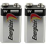 Energizer 9V 9 Volt Alkaline Battery Batteries 2 Packs