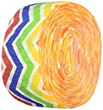 Amscan Fun-Filled Chevron Crepe Streamer Childrens Party (12 Piece), Rainbow, 81'